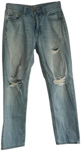 American Eagle Outfitters High Boyfriend Cut Jeans-Light Wash