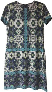 London Times Spring And Summer Multi-color Geometric Dress