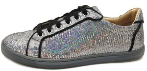 Christian Louboutin Silver/Black Trim Athletic