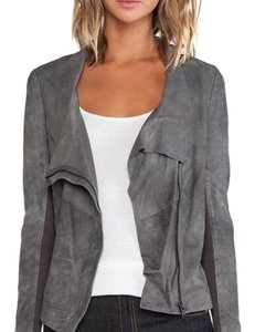 Muubaa gray Leather Jacket