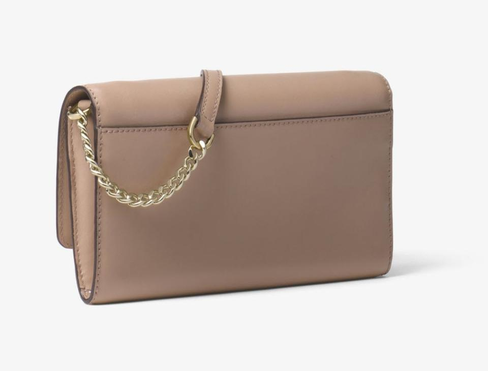 95e5122c324f Michael Kors Clutch Wallet 32t7soxc4l Truffle Gold Smooth Leather ...