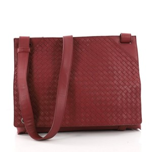 Bottega Veneta Nappa Dark Red Messenger Bag