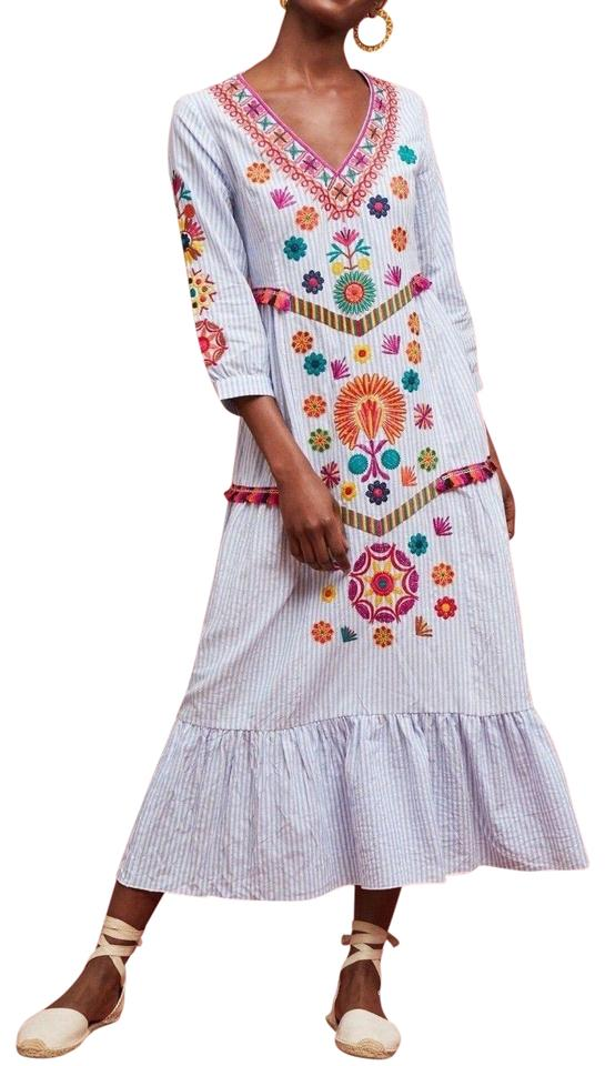 dcdb9fd269ec Anthropologie Multi-color Genevieve Embroidered Maxi By Stellah Night Out  Dress