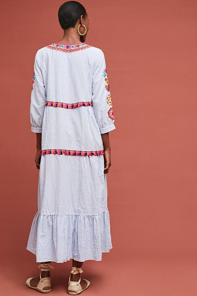 a63221f3b355 Anthropologie Multi-color Genevieve Embroidered Maxi By Stellah Long ...