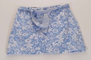 Tommy Hilfiger Womens Indigo White Floral Tie Mini Mini Skirt Blue