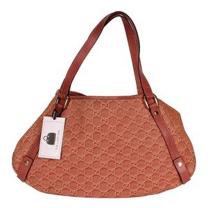Gucci Guccissima Leather Monogram Leather Tote in Pink