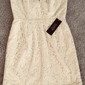 J.Crew Cream Or Beige Fully Lined Cathleen Lever Party Casual Wedding Dress Size Petite 8 (M)