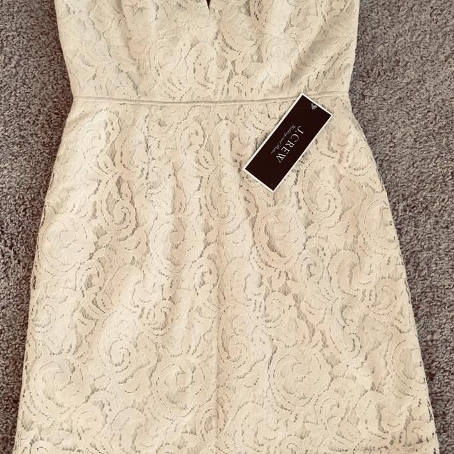 Item - Cream Or Beige Fully Lined Cathleen Lever Party Casual Wedding Dress Size Petite 8 (M)