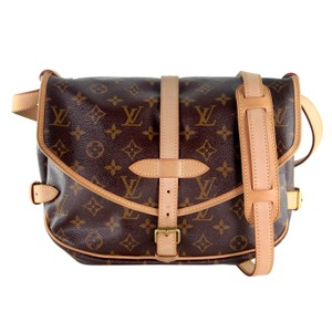 Louis Vuitton Monogram Canvas Cross Body Bads Shoulder Bags Brown VERY NICE CONDITION 6426 Messenger Bag
