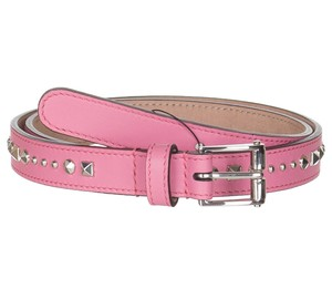 Gucci Gucci Women's pink Studded Leather Slim Belt