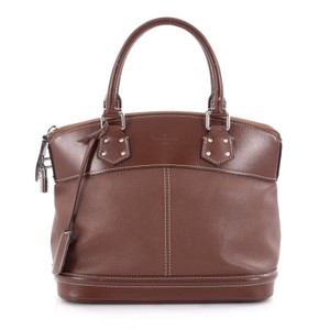 Louis Vuitton Tote Leather Satchel In Brown