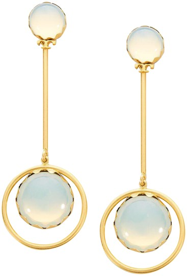 Tory Burch linear stone statement earrings Image 0