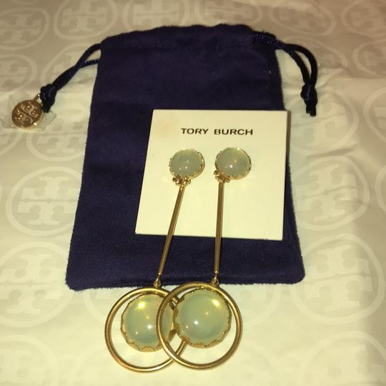 Tory Burch linear stone statement earrings Image 3