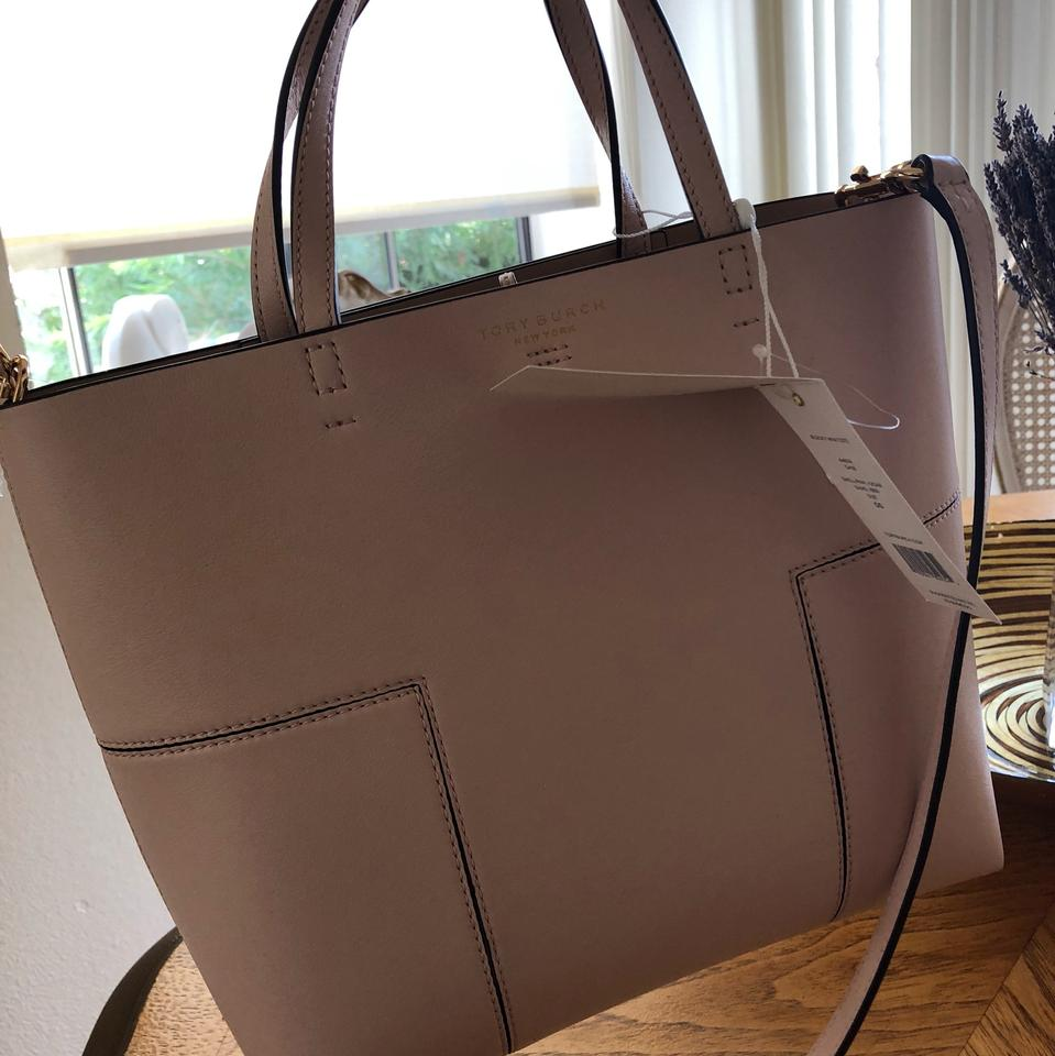 Block T Tory T Tote Pink Shell Goan Burch Sand Leather xpRFqwaBp