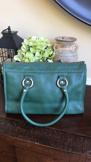 MCM Leather Gucci Satchel in Dark Green Image 1