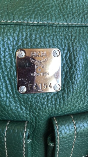MCM Leather Gucci Satchel in Dark Green Image 2