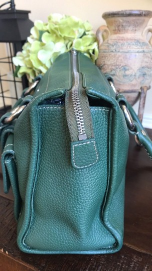 MCM Leather Gucci Satchel in Dark Green Image 4