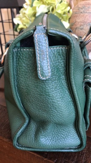 MCM Leather Gucci Satchel in Dark Green Image 5