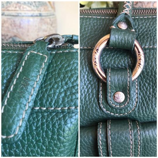 MCM Leather Gucci Satchel in Dark Green Image 6