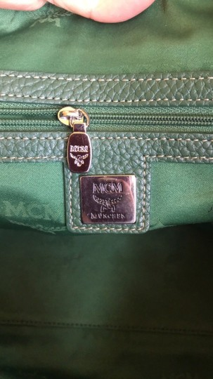 MCM Leather Gucci Satchel in Dark Green Image 9