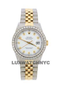 Rolex 2.7ct 36mm Datejust 2-tone W/ Box & Appraisal Watch
