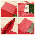 Kate Spade Bow Bowtie Pebbled Leather Flamingo Coral Clutch Image 2