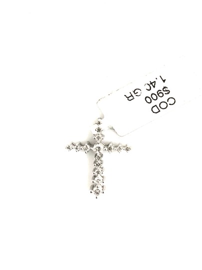 Other 14K White Gold Diamond Cross Necklace Image 1