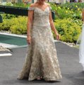 Jovani Gold Polyester and 3% Spandex Gown Formal Bridesmaid/Mob Dress Size 8 (M) Image 0