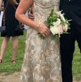 Jovani Gold Polyester and 3% Spandex Gown Formal Bridesmaid/Mob Dress Size 8 (M) Image 3