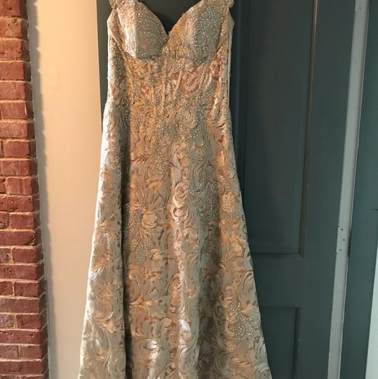 Jovani Gold Polyester and 3% Spandex Gown Formal Bridesmaid/Mob Dress Size 8 (M) Image 6