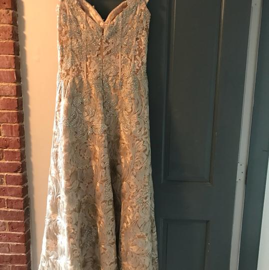 Jovani Gold Polyester and 3% Spandex Gown Formal Bridesmaid/Mob Dress Size 8 (M) Image 8