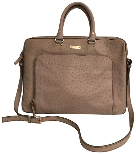 Preload https://img-static.tradesy.com/item/23891119/kate-spade-embossed-ostrich-gray-taupe-leather-laptop-bag-0-1-540-540.jpg