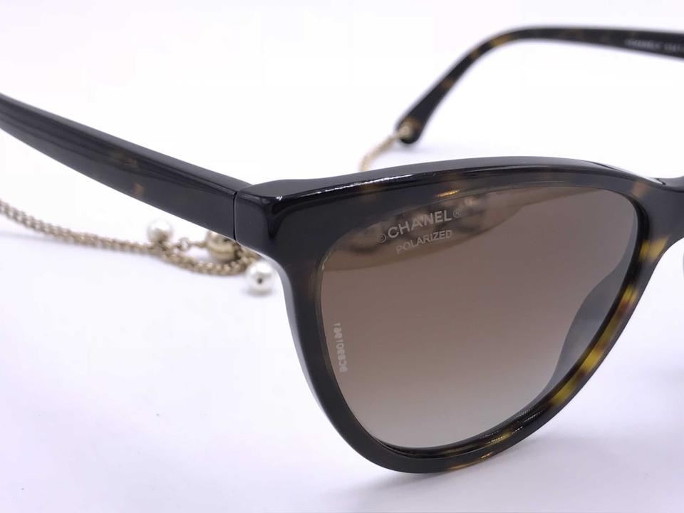 b916a176bcea0 Chanel Tortoise Brown Gradient Amazing Cat Eye with Dangling Pearls 5341h C .714 S9 Polarized Sunglasses - Tradesy