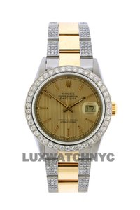 Roberta Roller Rabbit Free Shipping 4.2ct 36mm Datejust Gold Ss with Box and Appraisal Watch