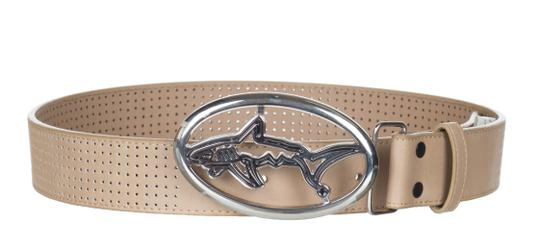 Greg Norman For Tasso Elba Greg Norman For Tasso Elba Men's Beige Leather Oval Buckle Perforated Image 1