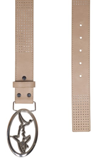 Greg Norman For Tasso Elba Greg Norman For Tasso Elba Men's Beige Leather Oval Buckle Perforated Image 2