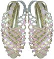 Positively Peppers Glam Ivory Sparkle Wedding Bridal irridescent Flats Image 0
