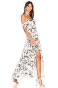 White Maxi Dress by Clayton Maxi Floral Vacation Summer Caribbean
