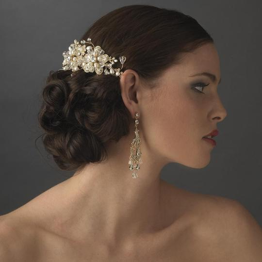 Elegance by Carbonneau Silver Or Gold Stunning Pearl Side Comb Hair Accessory Image 1