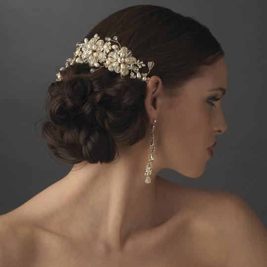 Elegance by Carbonneau Silver Or Gold Stunning Pearl Side Comb Hair Accessory Image 2