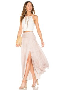 The Jetset Diaries Summer Slit Vacation Maxi Skirt Pink