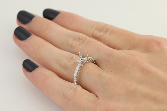 Other NEW Semi-Mount Engagement Ring - 14k Gold for 6-6.5mm Solitaire n767 Image 7