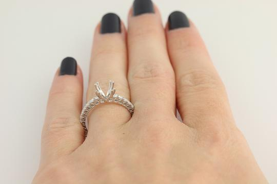 Other NEW Semi-Mount Engagement Ring - 14k Gold for 6-6.5mm Solitaire n767 Image 8