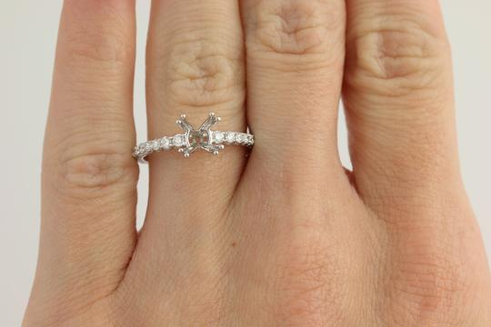 Other NEW Semi-Mount Engagement Ring - 14k Gold for 6-6.5mm Solitaire n767 Image 9
