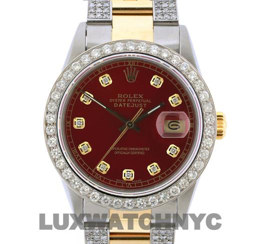 Rolex Free Shipping 4.2ct 36mm Datejust Gold Ss with Box and Appraisal Watch Image 1
