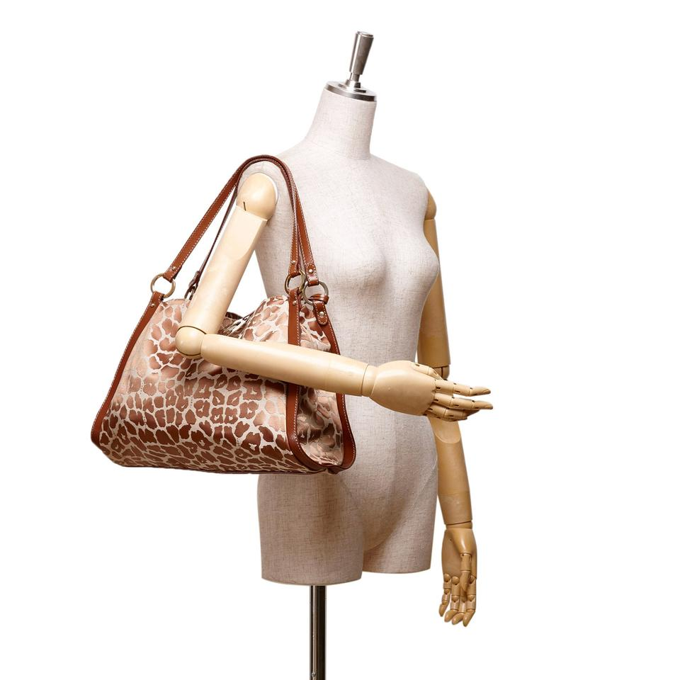 X Shoulder X Bag Fabric Others Leather X Printed Fendi Brown Jacquard P14Axqw