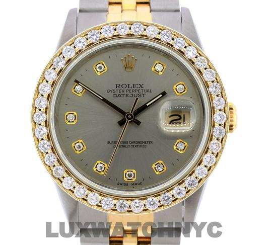 Rolex Free Shipping 2.8ct 36mm Datejust S/S with Box & Appraisal Watch Image 1