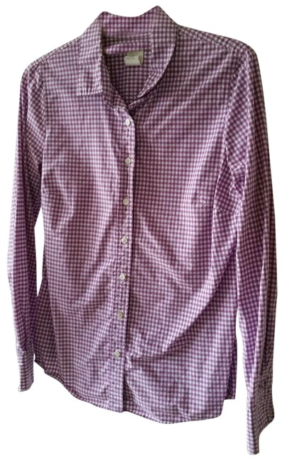 Item - Lilac Purple and White The Perfect Shirt Button-down Top Size 4 (S)