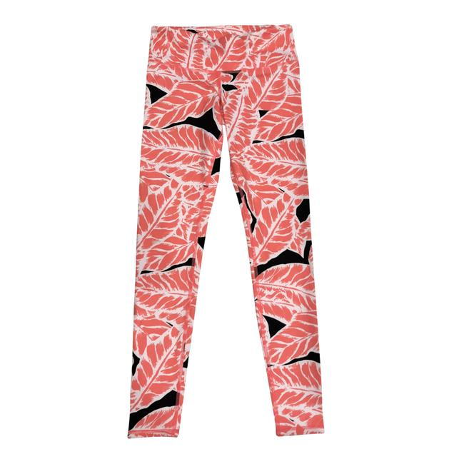 Item - Red White Black Tropical Yoga Pants Activewear Bottoms Size 2 (XS, 26)