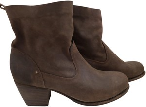 Rag & Bone Waxed Leather Slouchy Brown Boots